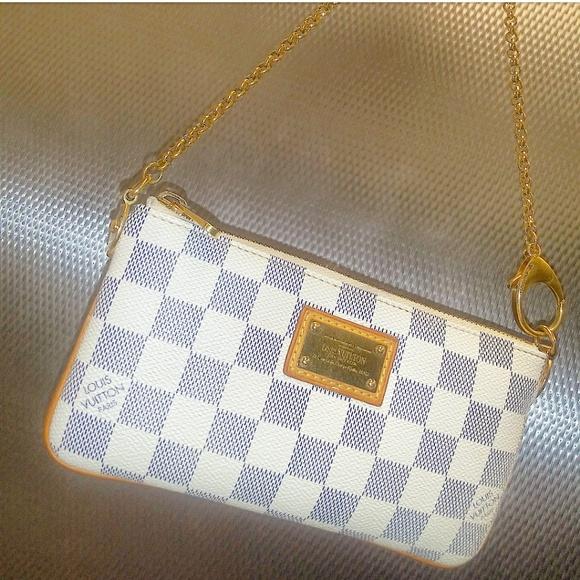 Louis Vuitton Handbags - ✨LV Wristlet Purse✨Damier Azur Louis Vuitton bag